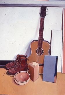 Stanford still life boots guitar